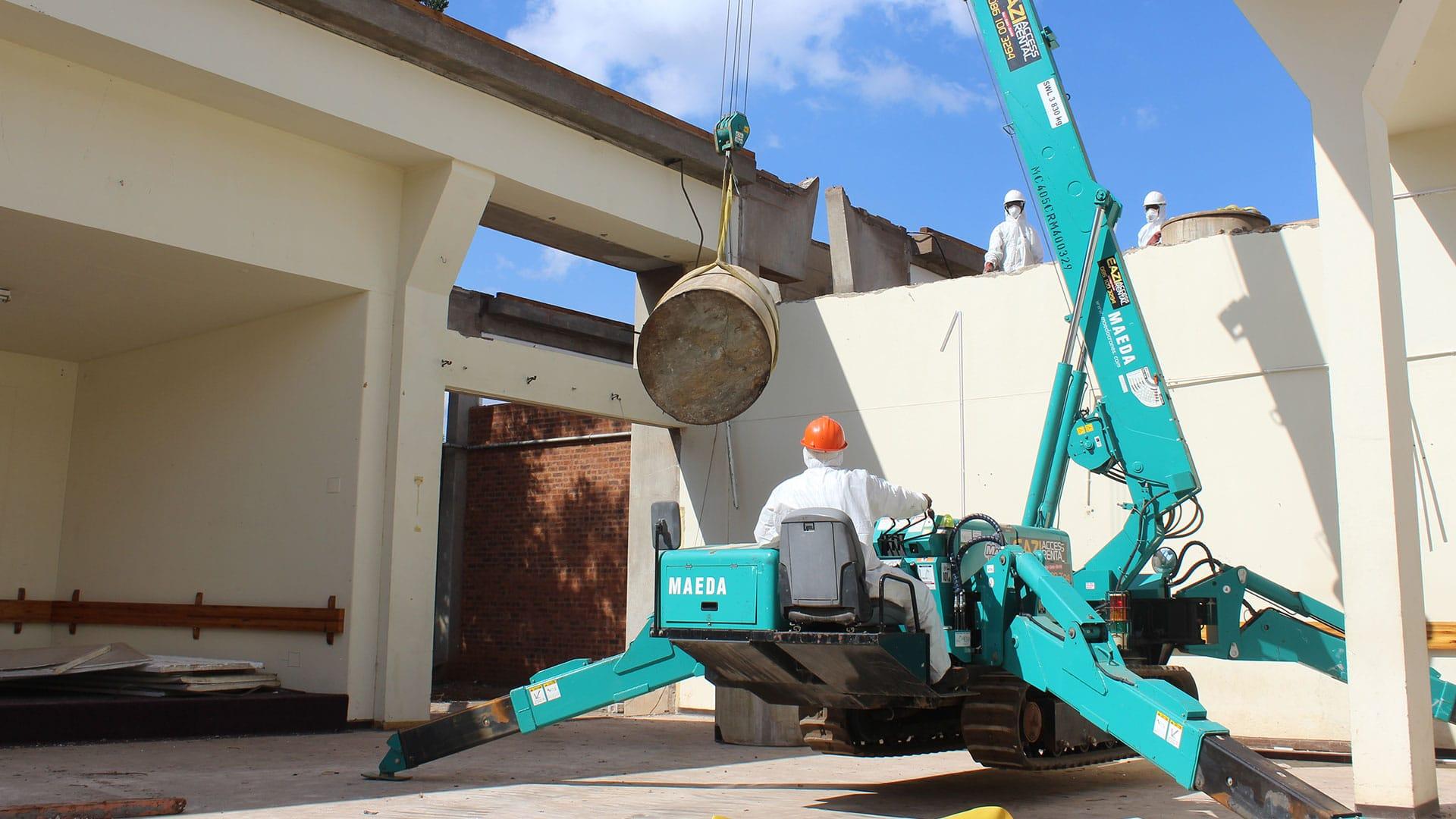 Asbestos removal machine operator