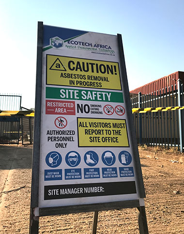 Safety asbestos removal