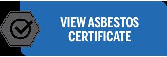 Certificate asbestos removal