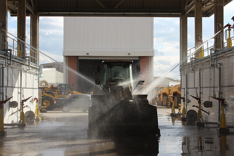 Fleet mining wash bays
