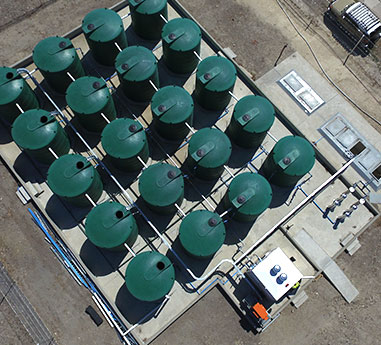 Inter range sewage wastewater treatment