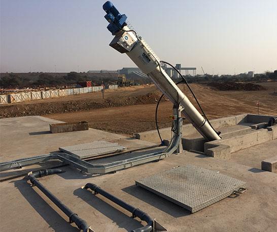 Sewage wastewater treatment