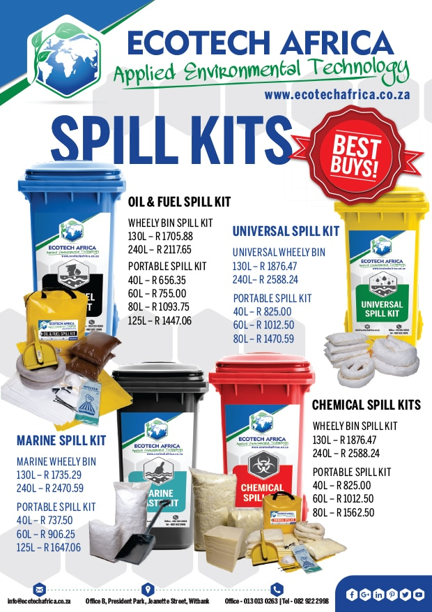 Spill kits and absorbents price list