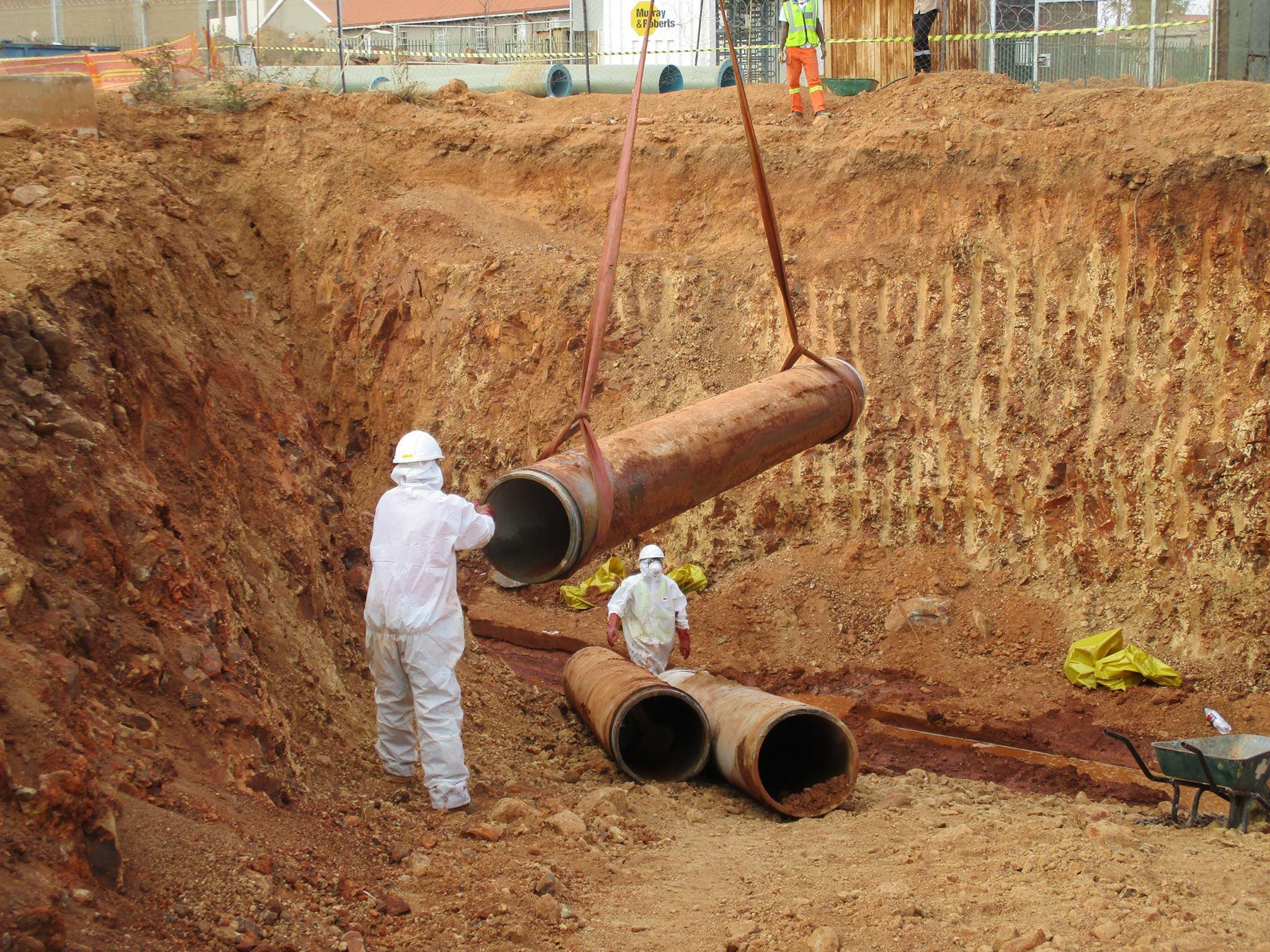 Orange Farms asbestos removal pipes