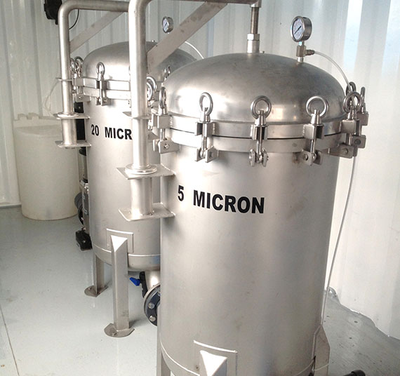 Multi grade filter water purification methods