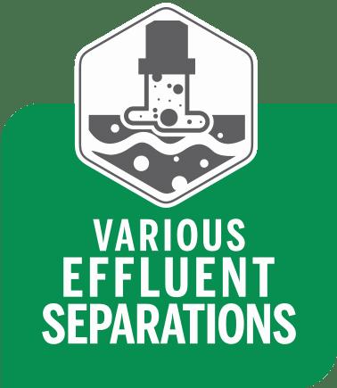 Effluent separation sediment traps