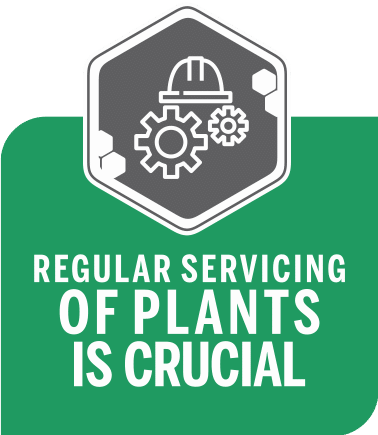 Servicing of plants maintenance